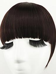 Dark Brown With Hair Hoop Double Temples To Neat Bang(Dark Brown)