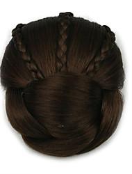 Kinky Curly Brown Braid Lady Human Hair Weaves Chignons 2009