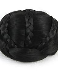 crépus chignons bouclés capless mariée europe noir de cheveux humains perruques sp-189 2