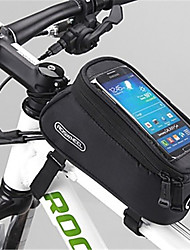 ROSWHEEL Bike Bag 1.5LBike Frame Bag Waterproof Zipper Wearable Moistureproof Shockproof Bicycle Bag PVC Mesh Terylene Cycle BagIphone