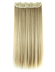Wig Black and gold 60CM High Temperature Wire Length Straight Hair Synthetic Hair Extension