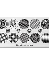 BlueZOO Rectangle Printing Nail Art Stamping (C-019)
