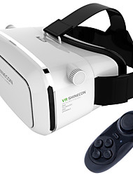 VR Virtual Reality 3D Glasses Headset Oculus Rift Head Mount 3D For 3.5-6.0 inch Phone + Bluetooth Remote Control