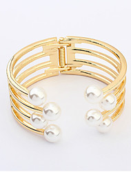 Bracelet/Bangles Alloy / Imitation Pearl Wedding / Party / Daily / Casual Jewelry Gift Gold / White,1pc
