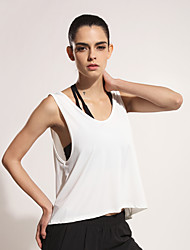 Running Tank Women's Quick Dry / Lightweight Materials Polyester Fitness / Leisure Sports / Running Sports Sports Wear Loose White / Black