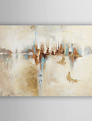 Hand Painted Oil Painting Abstract City in The City with Stretched Frame 7 Wall Arts®