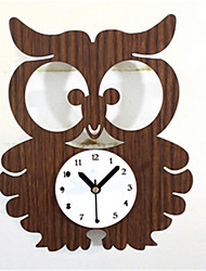 Forest Animal Cute Owl Wall Clock