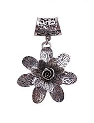argent antique anneau accessoires bijoux écharpe broche fleur Boucle écharpe pour dame