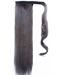 черный шоколад 60 см синтетический высокая температура проволоки парик прямые волосы конский хвост цвет 6б
