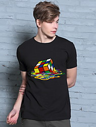 Hot Rubik Cube T-Shirt Hot Sitcoms The Big Bang Theory 2016 Fashion Men Short Sleeve Funny T Shirt Stylish Design