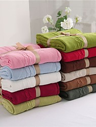 "Multicolor Solid Knitted Blanket Full Cotton 70""*79"""