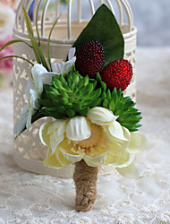 Wedding Flowers Free-form Handmade Peonies Boutonnieres