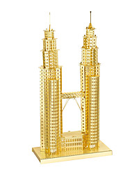 3D Puzzles / Metal Puzzles For Gift  Building Blocks Model & Building Toy Famous buildings Metal Above 14 Silver / Gold Toys