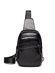 Men-Formal / Sports / Casual / Outdoor / Office & Career / Shopping-PU-Cross Body Bag-Black