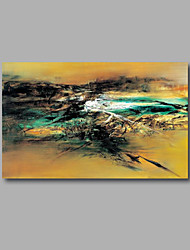 "Stretched (Ready to hang) Hand-Painted Oil Painting 36""x24"" Canvas Wall Art Modern Abstract Home Deco Green"