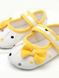 Baby Shoes-Tempo libero-Ballerine-Cotone-Giallo