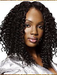 7A Full Lace Hair Wigs Brazilian Remy Kinky Curly Human HairLace Wigs