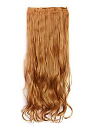 marron Longeur 70cm europe et les etats-unis style chaud cinq clip clip cheveux cheveux bouclés (couleur 26)