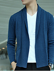 Men's Solid Cardigan,Cotton Long Sleeve