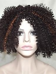 europa e os estados unidos vendem corante de poliéster preto pequeno volume wigs12 polegadas