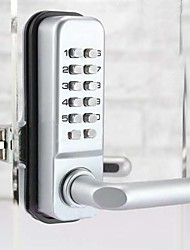 Second Version Mechanical Password Glass Door Lock,Keyless Code Locks
