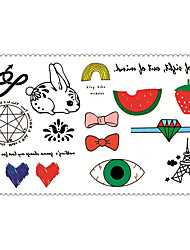 historietas de moda los tatuajes temporales de arte corporal atractiva pegatinas impermeable tatuaje 5pcs (tamaño: 2.36 '' de 4.13 '')
