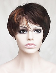 Europe And The United States  New Highlights in Middle-Aged or Aged 6 inch Hair Brown  Nylon Hair Wigs