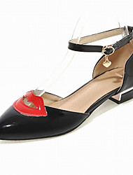 Women's Shoes Red Lips Flat Heel D'Orsay & Two-Piece / Pointed Toe Flats Wedding / Office & Career Black/White