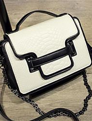 Women-Casual-PU-Shoulder Bag-White