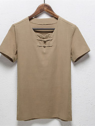 2016 New Design Short-Sleeve Irregular Pure Color High Quality Ring Fluid Grey Short-Sleeve Men T-shirt