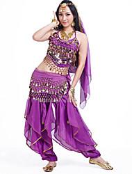 Performance Outfits Women's  Chiffon  / Ruffles 5 PiecesBlack / Fuchsia / Green / Light Blue / Pink / Purple / Red /