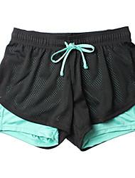 Damen Laufschuhe Atmungsaktiv Weich Sanft Videokompression Unten für Übung & Fitness Laufen Blau S M L XL