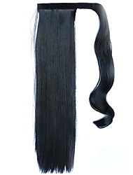 Black 60CM Synthetic High Temperature Wire Wig Straight Hair Ponytail Color 1