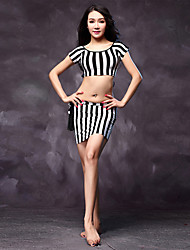 Belly Dance Dress Women's Performance Cotton / Modal Sash/Ribbon 3 Pieces Zebra Colors