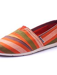 DamenBüro Kleid Lässig Sportlich-Leinwand-Flacher Absatz-Komfort-Beige Orange