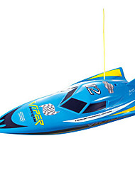 Remote Control Boat,Boat Charging High Speed Dual Motor Toys Series Explosion (Blue)