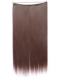 Perücke kastanienbraun 55cm synthetische Hochtemperatur-Draht Farbe glattes Haar Stück 33