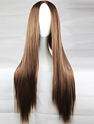 Europe And The United States The New Color Wig 80 CM High Temperature Silk Long Brown Hair