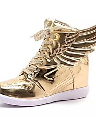 Women's Shoes Synthetic/Tulle Flat Heel Comfort Sneakers /Casual The wings of the angel wings shoes Golden/Silver