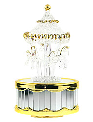 Music Box Cylindrical Model & Building Toy Gold ABS