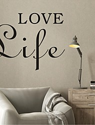 AYA™ DIY Wall Stickers Wall Decals, Love Life English Words & Quotes PVC Wall Stickers