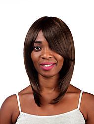 parti perruques synthétiques de haute qualité couleur brune longue ligne droite femme