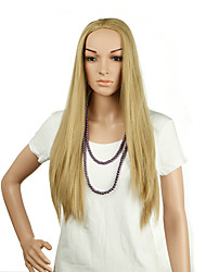 Natural Long Length Blonde Color Popular Straight Synthetic Wig For Woman