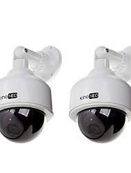 Dummy Speed Dome Camera Simulated surveillance camera 2pcs white