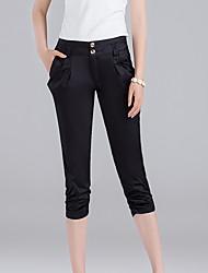 Pantaloni Da donna Skinny Semplice Poliestere Elasticizzato