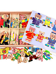Wooden Six Cubs Locker Puzzle, Three-Dimensional Magnetic Spell Spell, Children Hand Grasp Plate 1.5 KG Toy Box