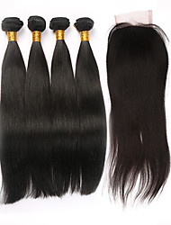 Straight Human Hair Weaves Brazilian Texture 450 8 10 12 14 16 18 20 22 24 26 Human Hair Extensions
