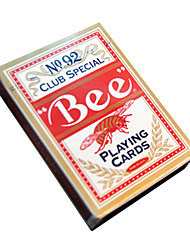 Bee Playing Cards 92 Bee Brand  Fluorescent Anti-Counterfeiting Red Cards (1 Pair)