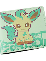 Bag / Wallets Inspired by Pocket Monster Cosplay Anime Cosplay Accessories Wallet Green PU Leather Male / Female