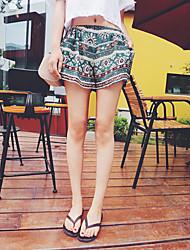 Women's Print Shorts / Wide Leg Pants,Boho